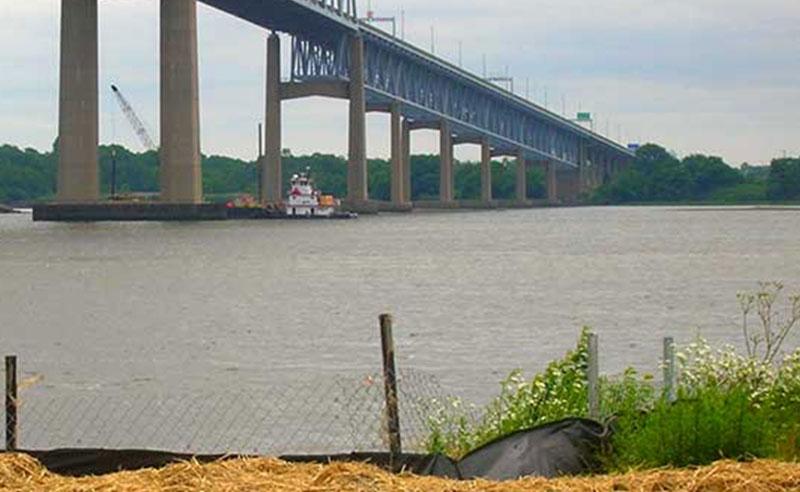 Commodore Barry Bridge Protective Islands